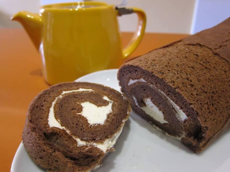 巧克力蛋糕卷 - 製作 攝影 Alice